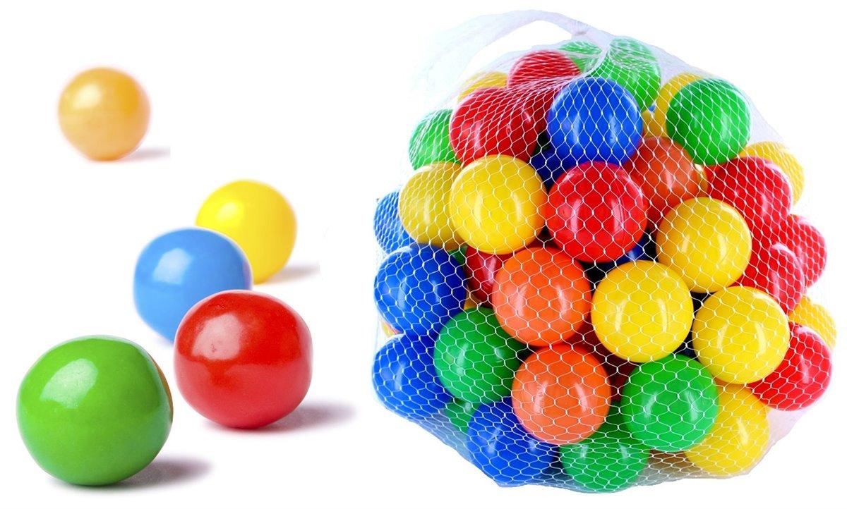 200 Stück Bunte Farben Kinderbälle Spielbälle Bällebad Kugelbad Bälle 70mm